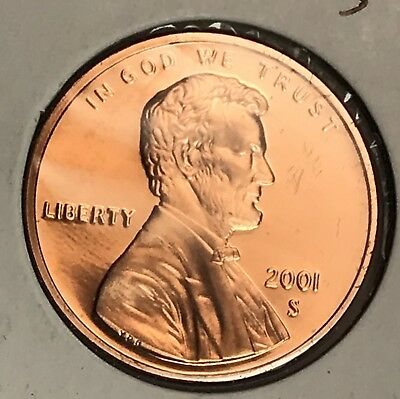 2001-S Lincoln Memorial Cent Proof. Collector Coin For Your Set. 2