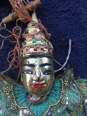 String Puppet Marionette Vintage Thailand Very Ornate Rare Hand Made Beautiful