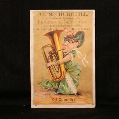 Churchill Tailors Trade Card - Hartford CT