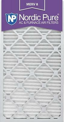 Nordic Pure 16x30x1M8-6 MERV 8 Pleated AC Furnace Air Filter , 16x30x1, Box of 6