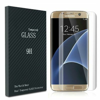 For Samsung Galaxy S7 Edge Clear Flat Tempered Glass Screen Cover SUPER CURVED