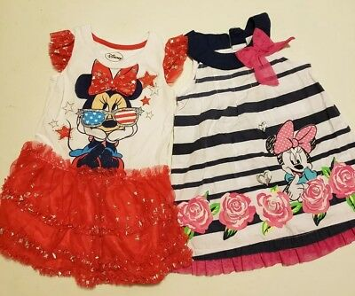 a176624e6a8b Disney Minnie patriotic mouse baby infant girl 24 months dress lot of 2