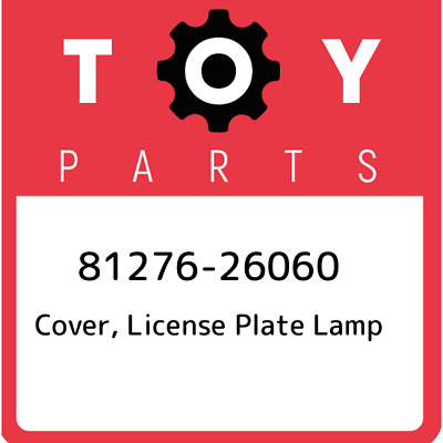 81276-26060 Toyota Cover License Plate, New Genuine OEM Part