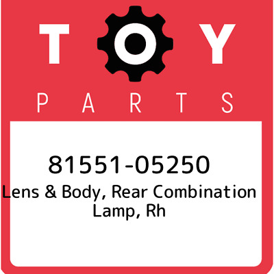 8155105250 Toyota Lens Body Rr 81551-05250, Genuine OEM Part