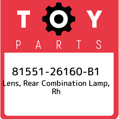 8155126160B1 Toyota Lensbody Rr 81551-26160-B1, Genuine OEM Part