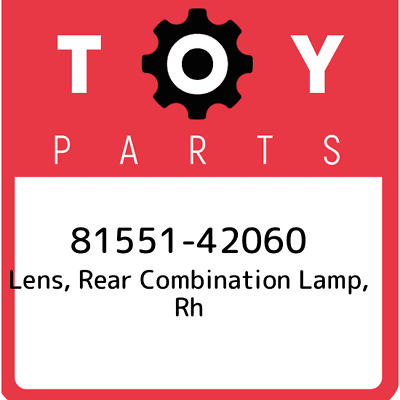 81551-42060 Toyota Rr Combination Lens, New Genuine OEM Part