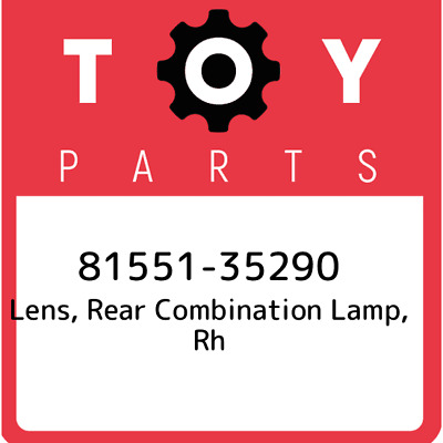 8155135290 Toyota Rr Combination Lens 81551-35290, Genuine OEM Part
