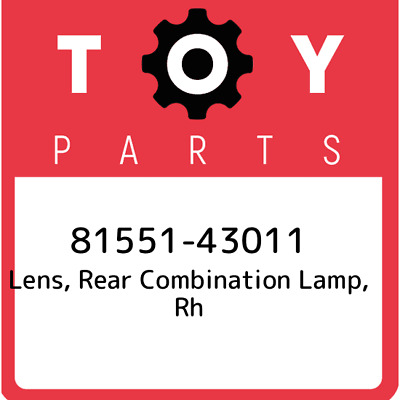 8155143011 Toyota Lens Rr Combination 81551-43011, Genuine OEM Part