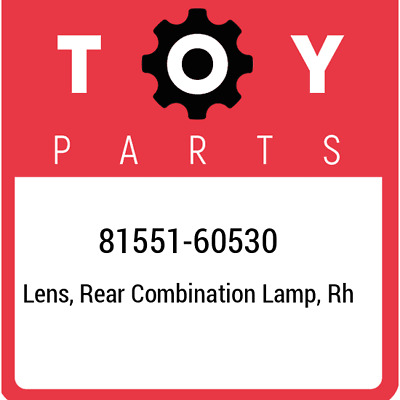 8155160530 Toyota Lensbody Rr 81551-60530, Genuine OEM Part