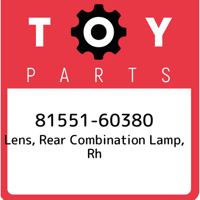 8155160380 Toyota Lens Bodyrr Combi 81551-60380, Genuine OEM Part