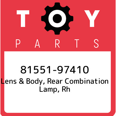 81551-97410 Toyota Lens Body Rr, New Genuine OEM Part