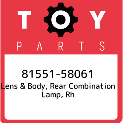 8155158061 Toyota Lens Body Rr 81551-58061, Genuine OEM Part