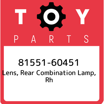 8155160451 Toyota Rr Combination Lens 81551-60451, Genuine OEM Part