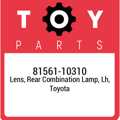 81561-10310 Lens, Rear Combination Lamp, Lh Toyota, New Genuine Part