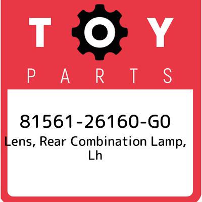 8156126160G0 Toyota Lensbody Rr 81561-26160-G0, Genuine OEM Part