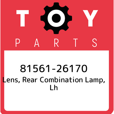 8156126170 Toyota Lensbody Rr 81561-26170, Genuine OEM Part