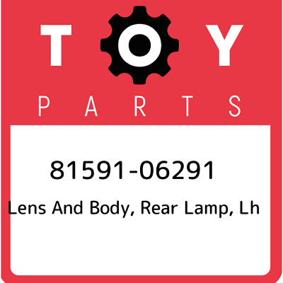 8159106291 Toyota Lensbody Rr Lamp 81591-06291, Genuine OEM Part