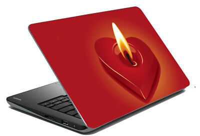 "Heart Candle Laptop Skin Protector Cover Notebook Stickers Decal 14.1"" To 15.6"""