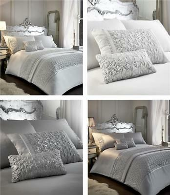 Luxury bedding duvet cover sets grey or white silver sequin sparkle quilt cover