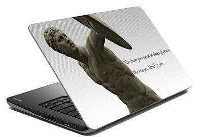"Quotes Laptop Protective Human Skin Stickers Cover Decal Fits 14.1"" To 15.6"""