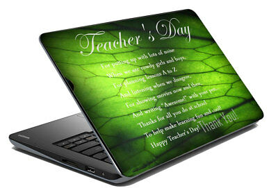 "Teacher day Laptop Skin Colour Stickers Cover Decal Fits 14.1"" To 15.6"""