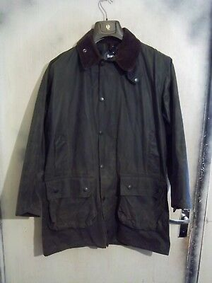 Vintage Man's Barbour Border Waxed Jacket Size C40 102Cm