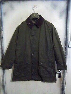 Vintage Man's Barbour Border Waxed Jacket Size C44 112Cm