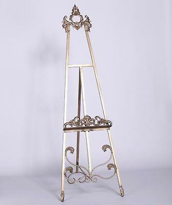 French Antiqued Gold Freestanding Metal Wedding Table Plan Easel/Picture Display