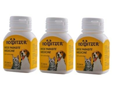 HOWITZER Dewormer 90 Tabs Tapeworm for Dogs and Cats Generic Safeguard Panacur