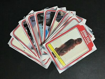 Scanlens Star Wars The Empire Strikes Back Card Lot Of 28