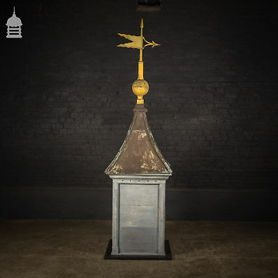 19th C Copper Top Cupola Weather Vane Tower