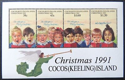 1991 Cocos Keeling Island Stamps - Christmas - Mini Sheet MNH