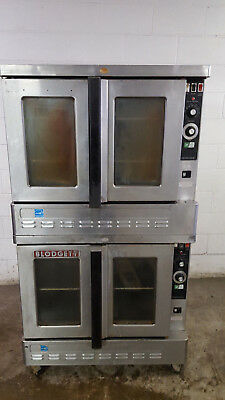 Blodgett Zephaire-GE Natural Gas Double Stack Convection Oven Tested 115v 1 Ph