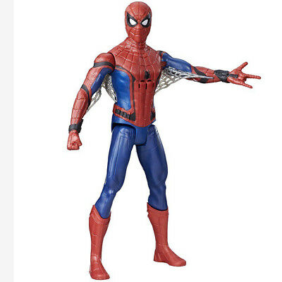 Action Figure Spiderman Homecoming 30cm Snodato Con Suoni Movimento Occhi Marvel