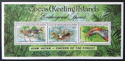 1992 Cocos Keeling Island Stamps - Cocos Buff-Banded Rail - Mini Sheet MNH