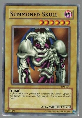 Summoned Skull SDY-004  Yu gi oh Trading Card Played Condition