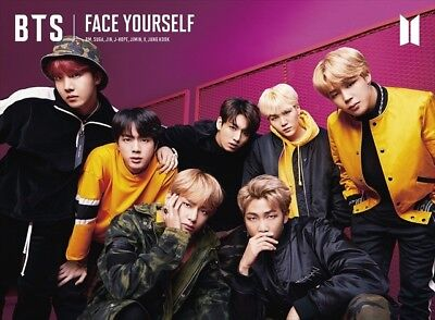BTS FACE YOURSELF Limited Edition Type B CD DVD 32P Booklet Sticker from Japan