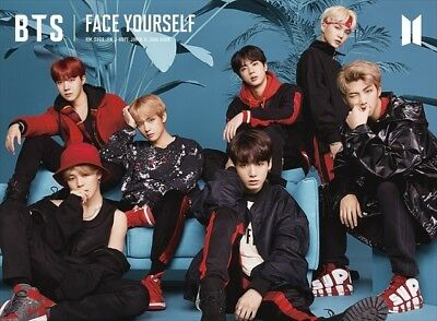 BTS FACE YOURSELF  Limited Edition Type A CD+Blu-ray 32P Booklet Sticker Japan