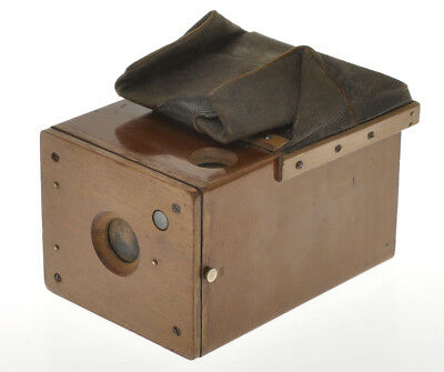 STIRN early 1893 wood detective camera for plate 6x8cm very rare  small format