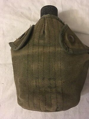 Vintage Military WWII Canteen US AGM Co. 1945 and Canvas Cover from 1954