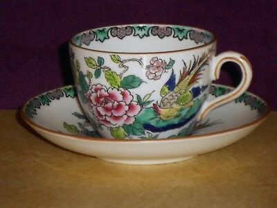 Staffordshire ROCK BIRD Tea Cup and Saucer - Free Ship