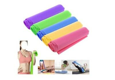 Best 1.5m Elastic Yoga Pilates Rubber Stretch Resistance Exercise Fitness Band