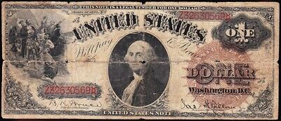 """Affordable *RARE* $1 1880 US Note! """"LG. BROWN SEAL""""! FREE SHIP! Z32630569"""