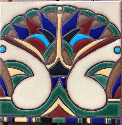Hand-Painted Decorative Egyptian Revival Art Deco Tiles Available in 6x6 & 5x5