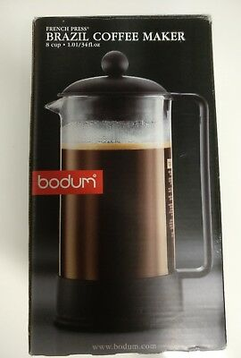 Bodum French Press Brazil Coffee maker Piston 8 cups.1.01/34fl Oz