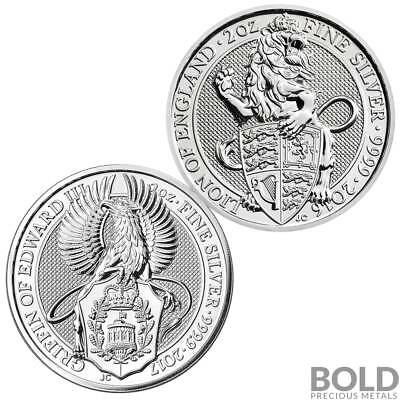 BOLD Set: Queen's Beasts 2 Coin Starter Set (Lion & Griffin)
