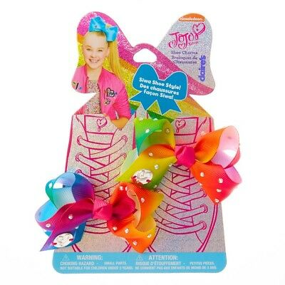JoJo Siwa Shoe CHARMS BOWS 🎀 Bright Mini Rainbow Bows New Release NWT 🎀