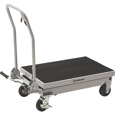 Strongway 2-Speed Hydraulic Table Cart with Rapid Lift- 1000-Lb. Capacity