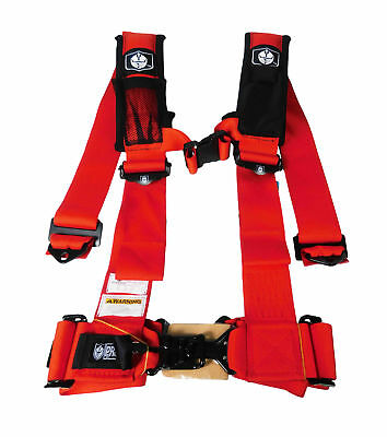 """Pro Armor A115230RD 5 Point 3"""" Harness with Sewn in Pads - Red"""
