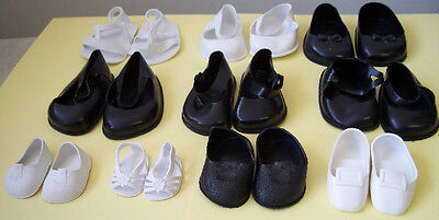 Plastic Doll Shoes - 10 Asst Pack. New- Italian- Great!